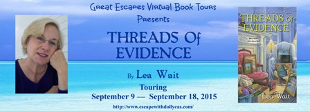 TOUR: Threads of Evidence (Lea Wait)