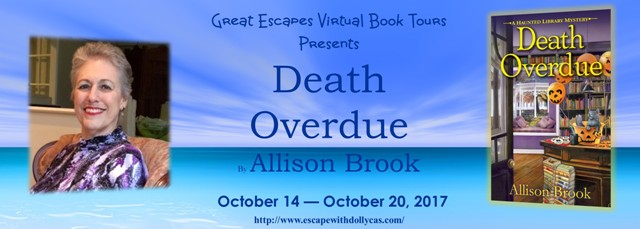 TOUR: Death Overdue by Allison Brook - with character guest post!